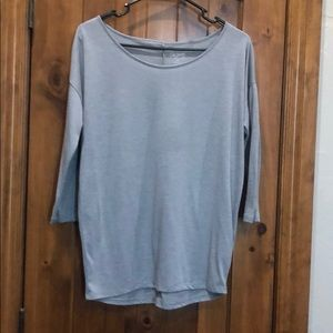 City Streets grey loose fit quarter sleeve top Sm
